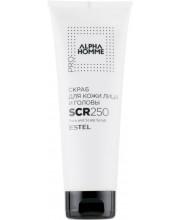 Скраб для кожи лица и головы Estel Alpha Homme Pro AH/SCR250