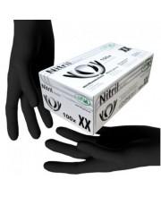Перчатки нитриловые черные без пудры SFM размер S, 100 шт