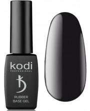Черная каучуковая основа Kodi Professional Rubber Base Gel Black, 8 мл