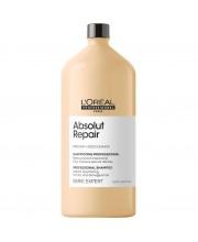 Шампунь для восстановления волос LOreal Absolut Repair Gold Qiunoa