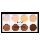 Палетка кремовых хайлайтеров NYX Highlight & Contour Cream Pro Palette, 8*2 г