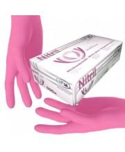 Перчатки нитриловые розовые без пудры SFM размер М, 100 шт (пл 3.8)