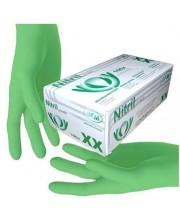 Перчатки нитриловые зеленые без пудры SFM размер S 100 шт (пл 3.8)