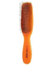 Щетка для волос I Love My Hair Spider 1501 M оранжевая глянцевая
