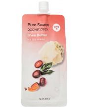 Питательная ночная маска с маслом ши Missha Pure Source Pocket Pack Shea Butter