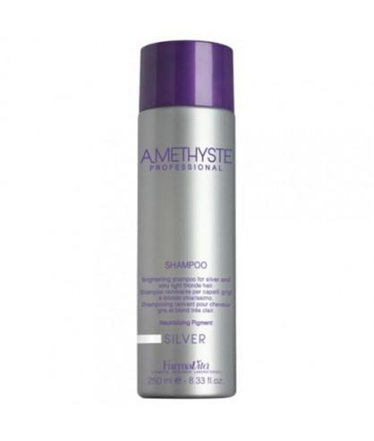 Шампунь для сивого і освітленого волосся FarmaVita Amethyste Silver Shampoo