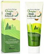 Скраб для тела с зеленым чаем Elizavecca Body Care Milky Piggy Greentea Salt Body Scrub