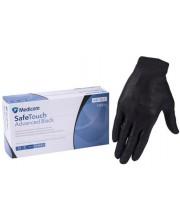 Перчатки нитриловые без пудры черные Medicom, 100 шт