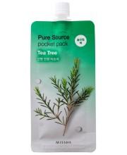 Ночная маска с экстрактом чайного дерева Missha Pure Source Pocket Pack Tea Tree