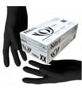 Рукавички нітрилові чорні без пудри SFM розмір M, 100 шт