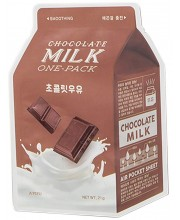 Тканевая маска для лица с экстрактом какао A'Pieu Chocolate Smoothing Milk One-Pack