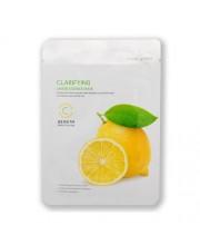 Очищающая тканевая маска для лица c экстрактом лимона BeauuGreen Lemon Essence Mask