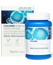 Увлажняющий крем-сыворотка с коллагеном FarmStay Collagen Waterfullmoist Cream Ampoule