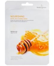 Питательная тканевая маска с маточным молочком BeauuGreen Nourishing Royal Jelly Essence Mask