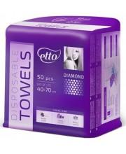Одноразовые полотенца жемчужные Etto 40х70, 50 шт