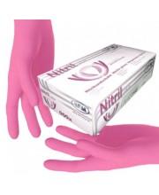 Перчатки нитриловые розовые без пудры SFM размер S, 100 шт (пл 3.8)