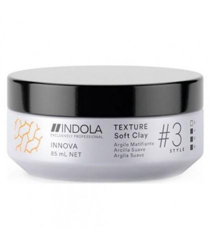 Глина для волос легкой фиксации Indola Innova Texture Soft Clay