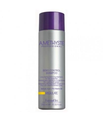 Шампунь для жирной кожи головы FarmaVita Amethyste Regulate Sebo Control Shampoo