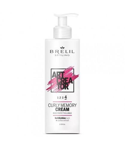 Крем для вьющихся волос с эффектом запоминания Brelil Art Creator Curly Memory 4