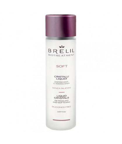 Блеск для волос Жидкие кристаллы без силиконов Brelil Bio Traitement Soft
