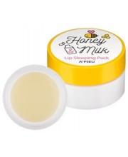 Молочно-медовая ночная маска для губ APieu Honey & Milk Lip Sleeping Pack