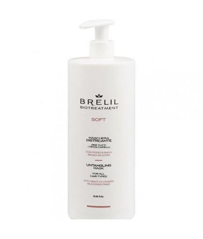 Маска без силиконов для непослушных волос Brelil Bio Traitement Soft