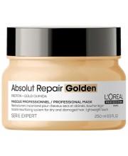 Маска для восстановления волос золотая LOreal Absolut Repair Gold Quinoa Golden Mask