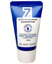 Очищающая пенка с гиалуроновой кислоты May Island 4D Hyaluronic Cleansing Foam