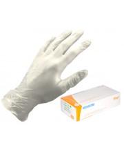 Перчатки виниловые с пудрой прозрачные Medicom, 100 шт
