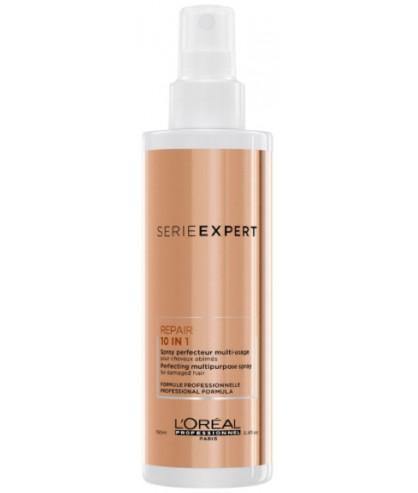 Спрей 10 в 1 для пошкодженого волосся LOreal Absolut Repair Gold Qiunoa