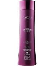 Шампунь для збереження кольору фарбованого волосся з екстрактом Чорної Ікри без сульфатів Alterna Caviar Anti-Aging Infinite Color Hold Shampoo
