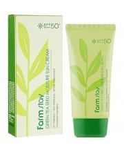 Сонцезахисний крем зволожуючий з екстрактом зеленого чаю FarmStay Green Tea 70 мл