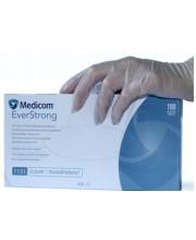 Перчатки виниловые без пудры Medicom, 100 шт