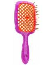 Расческа Janeke Superbrush фиолетовая с оранжевой серединкой 86SP226VA 86SP226BLT