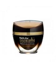 Крем с золотом и муцином улитки Farmstay Gold Snail Premium Cream 50 мл