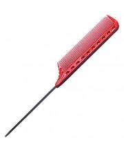 Гребінець для стрижки з металевим хвостиком Y.S. Park YS-102 RED, 22 см