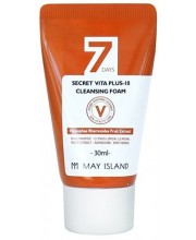 Отбеливающая пенка с витамином C May Island 7 Days Secret Vita Plus-10 Cleansing Foam