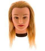 Учебная голова 40 см (натуральные волосы, классическая обвязка) 7000833 7000833