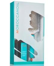 Набор для всех типов волос Moroccanoil (масло + щетка)