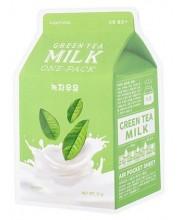 Тканевая маска с экстрактом зеленого чая APieu Green Tea Milk One-Pack
