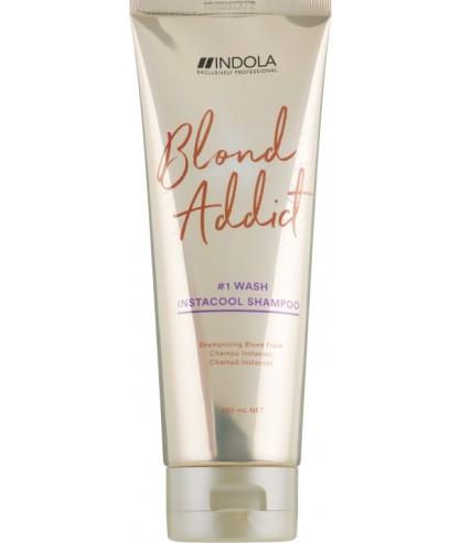 Шампунь для холодних відтінків блонд Indola Blond Addict InstaCool Shampoo