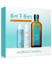 Набор для всех типов волос Moroccanoil Back To Basics (масло + шампунь + кондиционер)