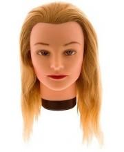 Учебная голова 40 см (натуральные волосы, классическая обвязка) 7000833