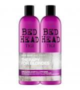Набор для восстановления и сохранения цвета волос для блондинок Tigi Bed Head Colour Combat Dumb Blonde Tweens Set