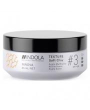 Глина для волосся легкої фіксації Indola Innova Texture Soft Clay