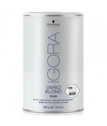 Осветляющий порошок до 7 уровней (голубой) Schwarzkopf Igora Vario Blond Plus 450 г