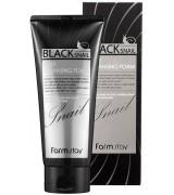 Пенка очищающая с муцином черной улитки FarmStay Black Snail Deep Cleansing Foam