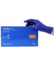Перчатки нитриловые синие без пудры Nitrylex размер S 100 шт