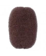 Вкладка-валик для прически Comair коричневая 7*11 см 3040039
